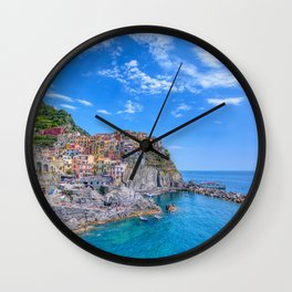 Manarola is a beautiful small town in the province of La Spezia Wall Clock