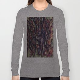 Watercolor Abstract Purple Flower Painting Long Sleeve T-shirt