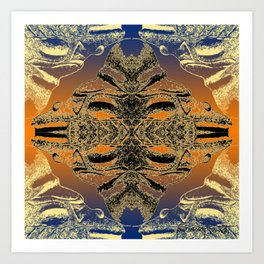 Taino Abstractions - Cemi Lama  Art Print