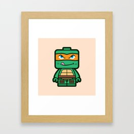 Chibi Michelangelo Ninja Turtle Framed Art Print