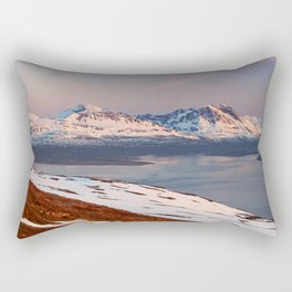 Mountain in Tromso Rectangular Pillow