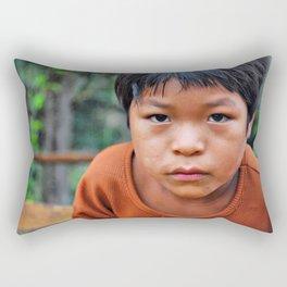 Look in the eyes II Rectangular Pillow