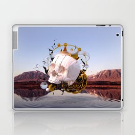 3D ABSTRACT - GOLD - GLASS - OIL - PORCELAIN Laptop & iPad Skin