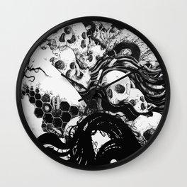 SKULLS DIAPER Wall Clock