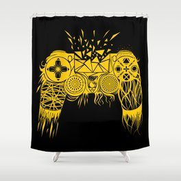 out-of-controller Shower Curtain
