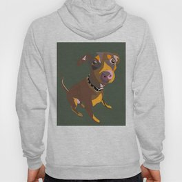 Green Dog Drawing Hoody