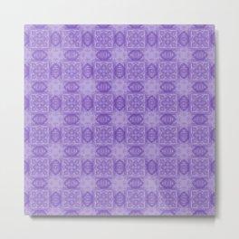 Purple Geometric Floral Metal Print