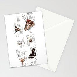 Lepidoptera inspiration: a watercolor collection of Saskatchewan moths & butterflies Stationery Cards