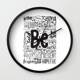 Lab No. 4 - Inspirational Positive Quotes Poster Wall Clock
