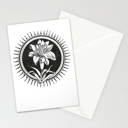 White flower Flor blanca Stationery Cards
