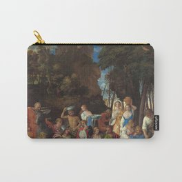 The Feast of the Gods Painting by Giovanni Bellini and Titian Carry-All Pouch
