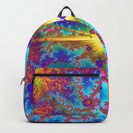 Colliding Dweeb Balls Psychedelic 3D Backpack