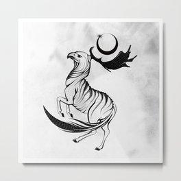 Horse and Eagle symbiosis Metal Print