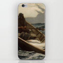 The Fog Warning / Halibut Fishing by Winslow Homer iPhone Skin