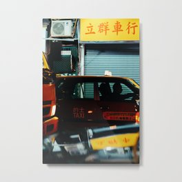 Taxicab Driver (Color) Metal Print