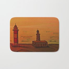 Good Morning / New and Old Lighthouse Fuencaliente La Palma Bath Mat
