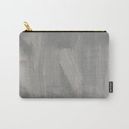 Abstract gray white watercolor brushstrokes Carry-All Pouch