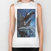alien Biker Tanks featuring Alien by Tom C Carlton