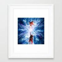 wreck it ralph Framed Art Prints featuring THOR vs RALPH by Raisya