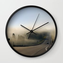 Country Sunrise Landscape Wall Clock