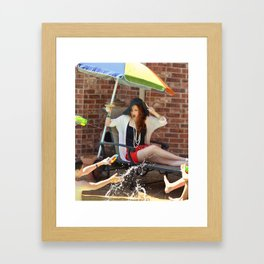 Poolside Housewife Framed Art Print