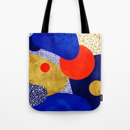 Terrazzo galaxy blue night yellow gold orange Tote Bag