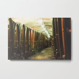 Wine Cellar at Strasbourg Hospital, France Metal Print