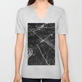 Black Granite Tiles Unisex V-Neck