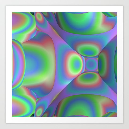 3D-Abstract-Illustration-Pattern Art Print