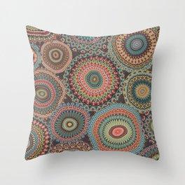 Boho Patchwork-Vintage colors Throw Pillow