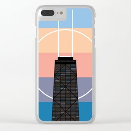 The John Hancock Building Clear iPhone Case