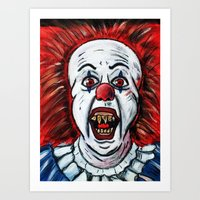 pennywise Art Prints featuring Pennywise by MSG Imaging