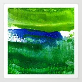 Encaustic Abstract No.27A by Kathy Morton Stanion Art Print