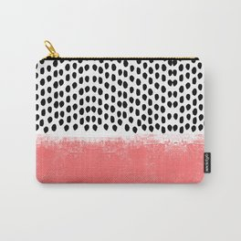Lola - Abstract, pink, brushstroke, original, painting, trendy, girl, bold, graphic Carry-All Pouch
