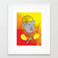ganesh Framed Art Prints featuring Ganesh  by xDiNKix