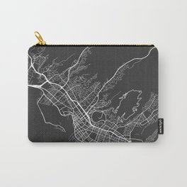 Honolulu Map, USA - Gray Carry-All Pouch