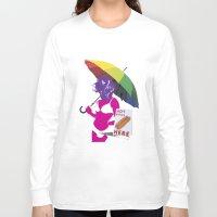hot dog Long Sleeve T-shirts featuring Hot dog by doubleudoubleo