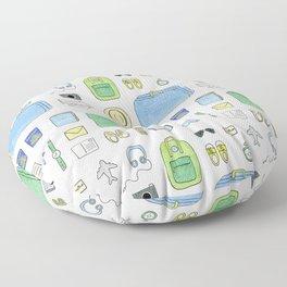 Happy Travels Floor Pillow