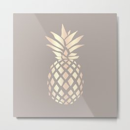 Pretty copper rose gold pineapple Metal Print