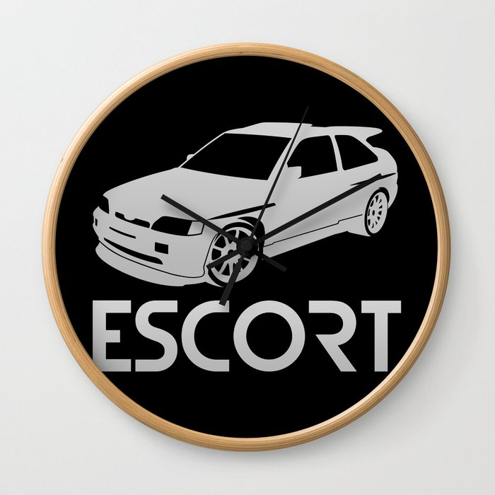 Ford Escort RS Cosworth - silver - Wall Clock