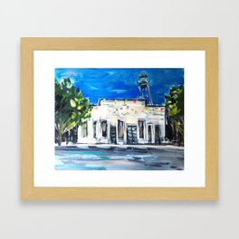 Gruene Hall Colored Lights Framed Art Print