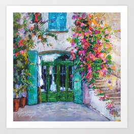 Colors of Collioure, France Art Print