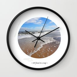 Not Found On A Map Wall Clock