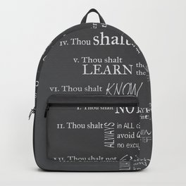 The 10 Commandments for Graphic Designers Backpack