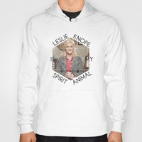 leslie knope Hoodies featuring Leslie Knope is My Spirit Animal by Dwell Beautiful