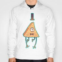 bill cipher Hoodies featuring Gravity Falls - Bill Cipher pixel by desmormos