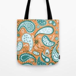 Bacterial paisley Tote Bag