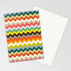 retro chevron Stationery Cards