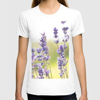 lavender T-shirts featuring lavender  by world pictured