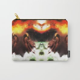Ion Bombardment Mirrored [Digital Figure Illustration] Carry-All Pouch